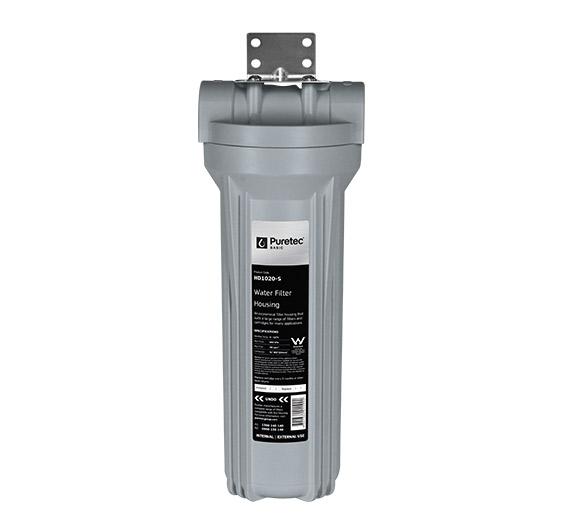 """HD1020 S 1 - Standard Filter Housing 2.5"""" Diameter, 10"""""""